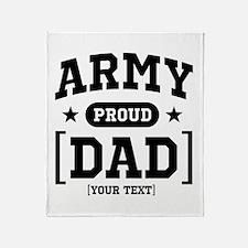 Army Mom/Dad/Sis/Bro Throw Blanket