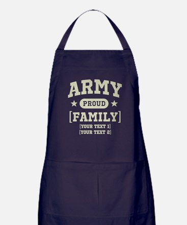Army Sister/Brother/Cousin Apron (dark)