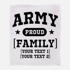 Army Sister/Brother/Cousin Throw Blanket