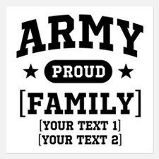 Army Sister/Brother/Cousin 5.25 x 5.25 Flat Cards