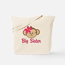 Big Sister Monkey Girl Tote Bag