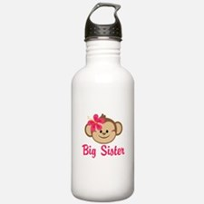Big Sister Monkey Girl Water Bottle