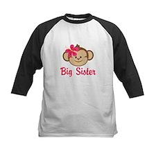 Big Sister Monkey Girl Baseball Jersey