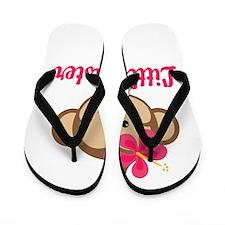 Little Sister Monkey Girl Flip Flops
