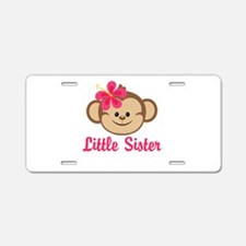 Little Sister Monkey Girl Aluminum License Plate