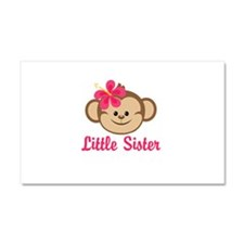 Little Sister Monkey Girl Car Magnet 20 x 12
