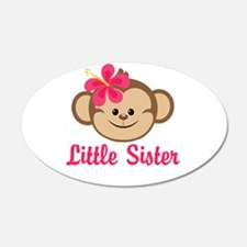 Little Sister Monkey Girl Wall Decal