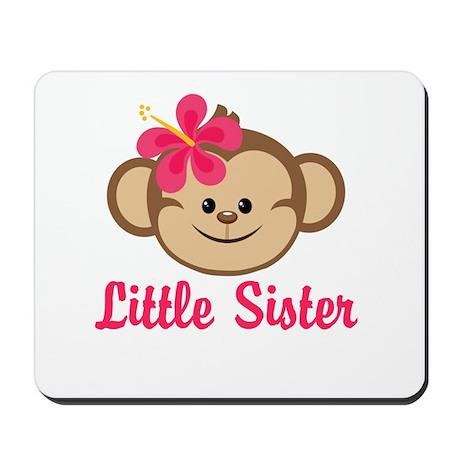 Little Sister Monkey Girl Mousepad