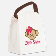 Little Sister Monkey Girl Canvas Lunch Bag