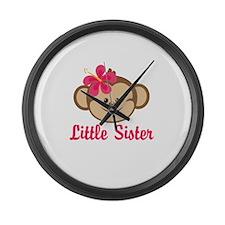 Little Sister Monkey Girl Large Wall Clock
