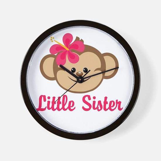 Little Sister Monkey Girl Wall Clock