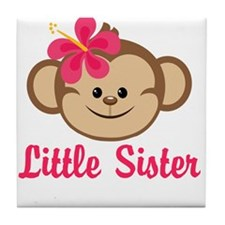 Little Sister Monkey Girl Tile Coaster