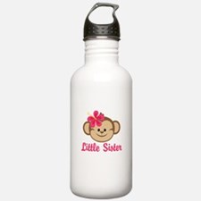 Little Sister Monkey Girl Water Bottle