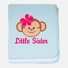 Little Sister Monkey Girl baby blanket