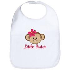 Little Sister Monkey Girl Bib