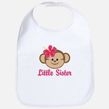 Little Sister Monkey Girl Bib