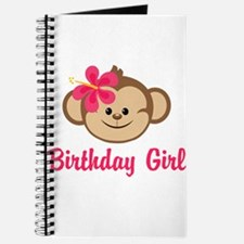Birthday Girl Pink Monkey Journal