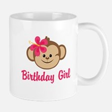 Birthday Girl Pink Monkey Mug