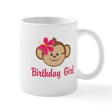 Birthday Girl Pink Monkey Mug