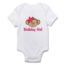 Birthday Girl Pink Monkey Body Suit