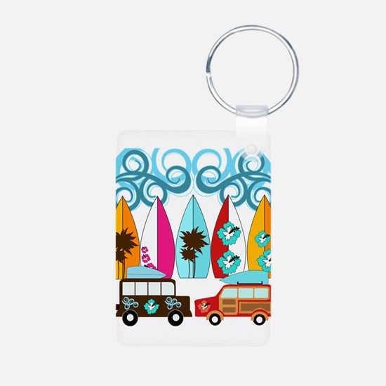 Surfer Surf Boards Beach Design Palm Trees Flowers