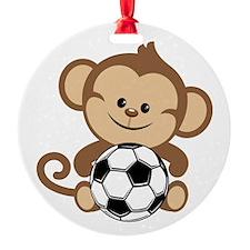 Soccer Monkey Ornament