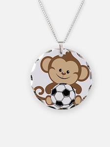 Soccer Monkey Necklace