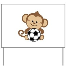 Soccer Monkey Yard Sign