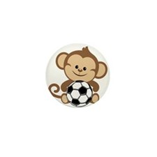 Soccer Monkey Mini Button