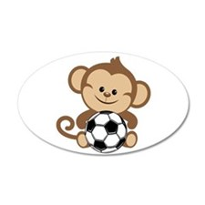 Soccer Monkey Wall Decal