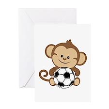 Soccer Monkey Greeting Card