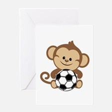 Soccer Monkey Greeting Card
