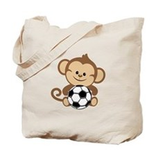 Soccer Monkey Tote Bag