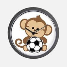 Soccer Monkey Wall Clock