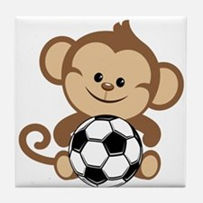 Soccer Monkey Tile Coaster