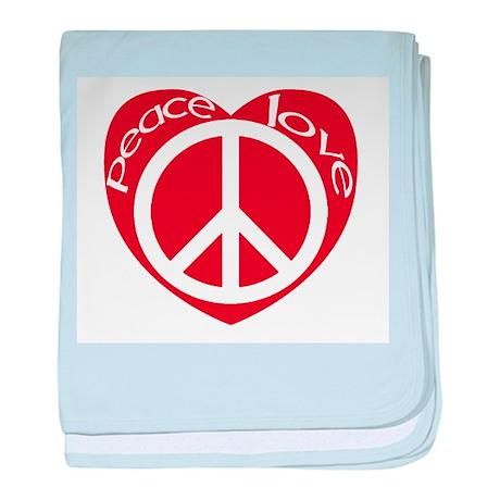 Peace_and _love.jpg baby blanket