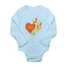 Yoga Heart Long Sleeve Infant Bodysuit