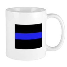 Police Black and Blue Mug