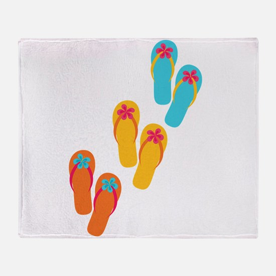 Trio of Flip Flops Throw Blanket