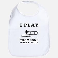I Play Trombone Bib