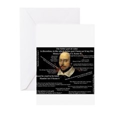 Shakespeares Famous Quotes Greeting Cards