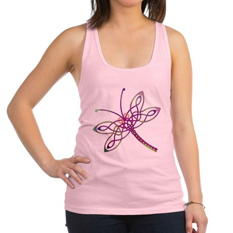 Celtic Dragonfly Racerback Tank Top
