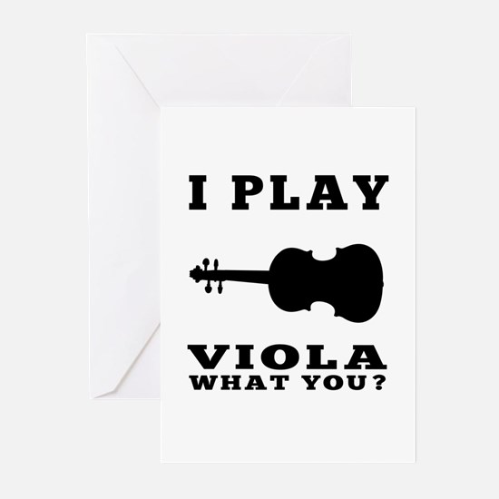 I Play Viola Greeting Cards (Pk of 20)