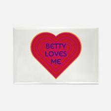 Betty Loves Me Rectangle Magnet