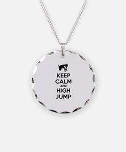 Keep calm and high jump Necklace
