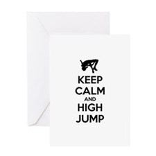 Keep calm and high jump Greeting Card