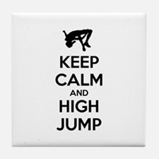 Keep calm and high jump Tile Coaster