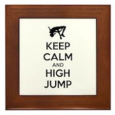 Keep calm and high jump Framed Tile