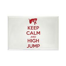 Keep calm and high jump Rectangle Magnet