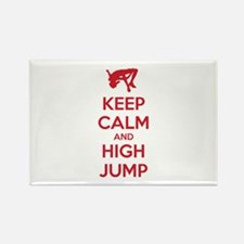 Keep calm and high jump Rectangle Magnet (100 pack